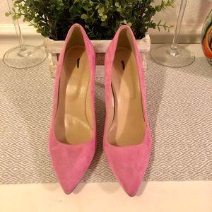JCrew Pink Suede Heels